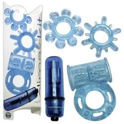 Coffret 4 Sex Toys Climax Kit Neon Bleu